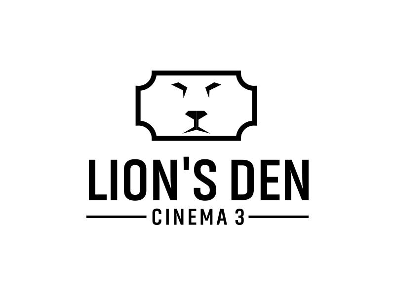 Lion's Den Cinema 3 logo design by keylogo