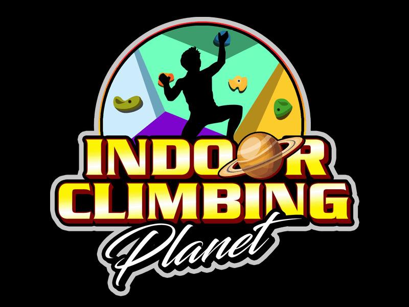 Indoor Climbing Planet logo design by Bananalicious