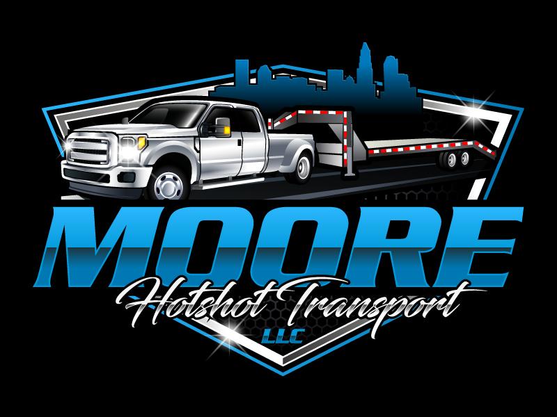Moore Hotshot Transport LLC logo design by LucidSketch