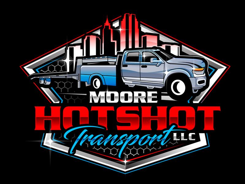 Moore Hotshot Transport LLC logo design by DreamLogoDesign