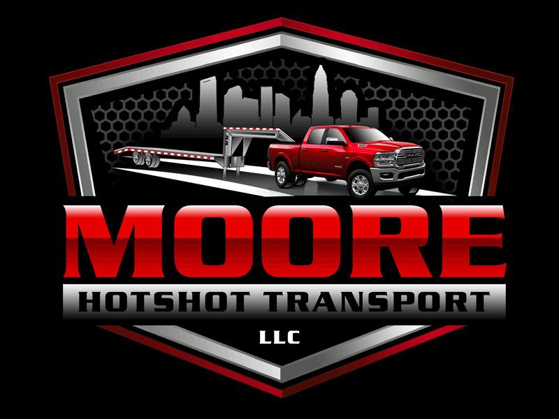 Moore Hotshot Transport LLC logo design by Bananalicious