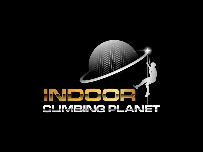 Indoor Climbing Planet logo design by ian69