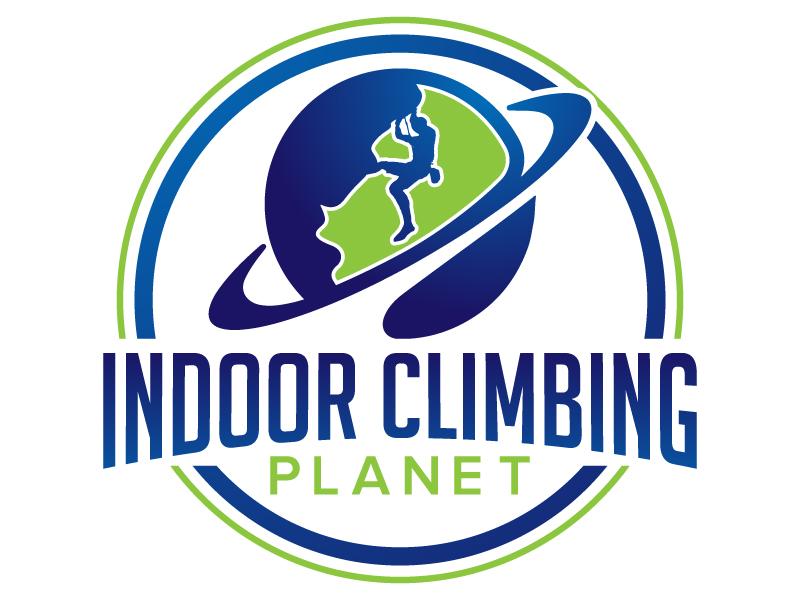 Indoor Climbing Planet logo design by jaize