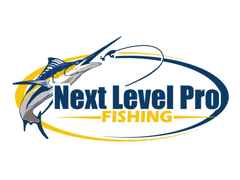 NEXT LEVEL PRO FISHING logo design by ElonStark