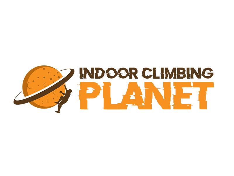 Indoor Climbing Planet logo design by kunejo