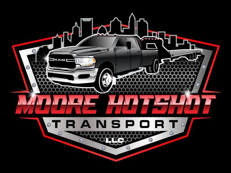 Moore Hotshot Transport LLC logo design by bosbejo