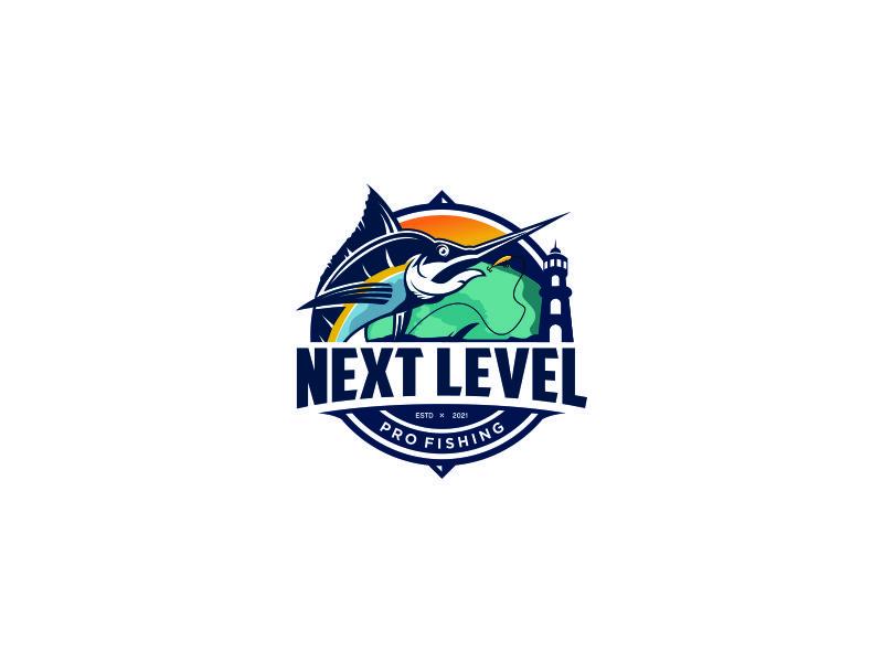 NEXT LEVEL PRO FISHING logo design by mbah_ju