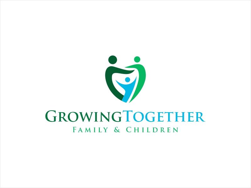 Growing Together Family & Children logo design by Shabbir