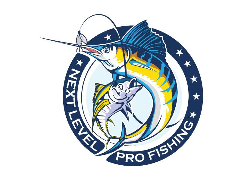 NEXT LEVEL PRO FISHING logo design by dorijo