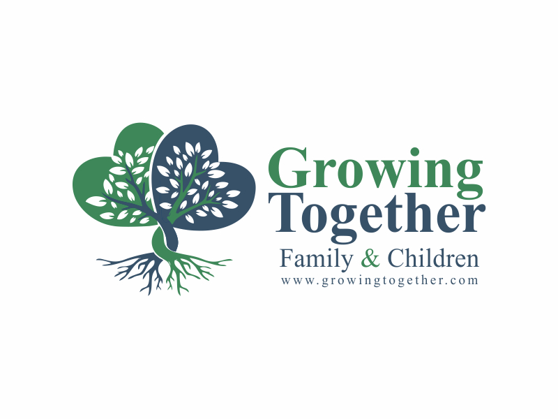 Growing Together Family & Children logo design by nikkiblue