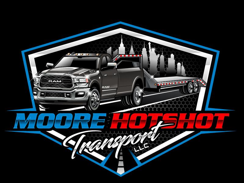 Moore Hotshot Transport LLC logo design by uttam