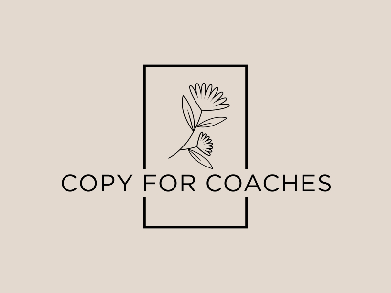Copy for Coaches logo design by GassPoll