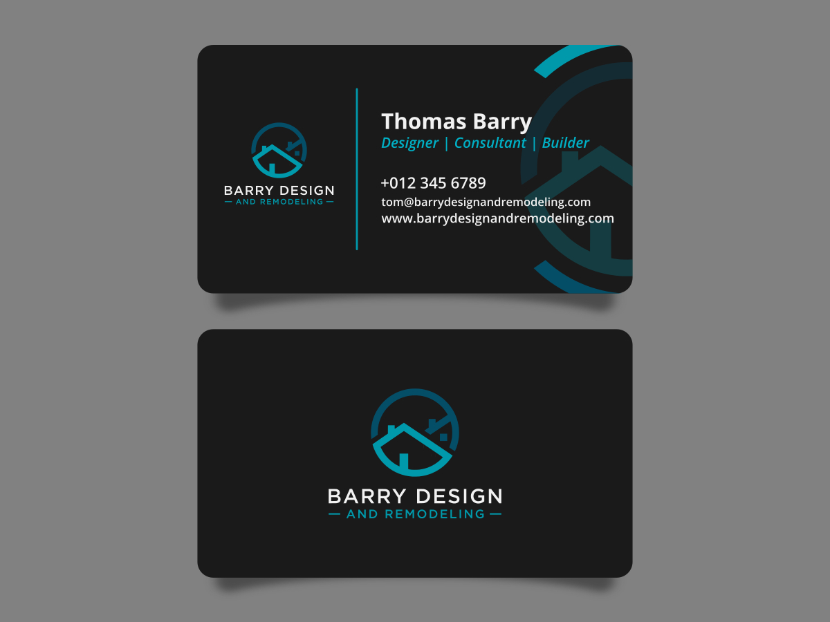 Barry Design and Remodeling logo design by dennisatsir