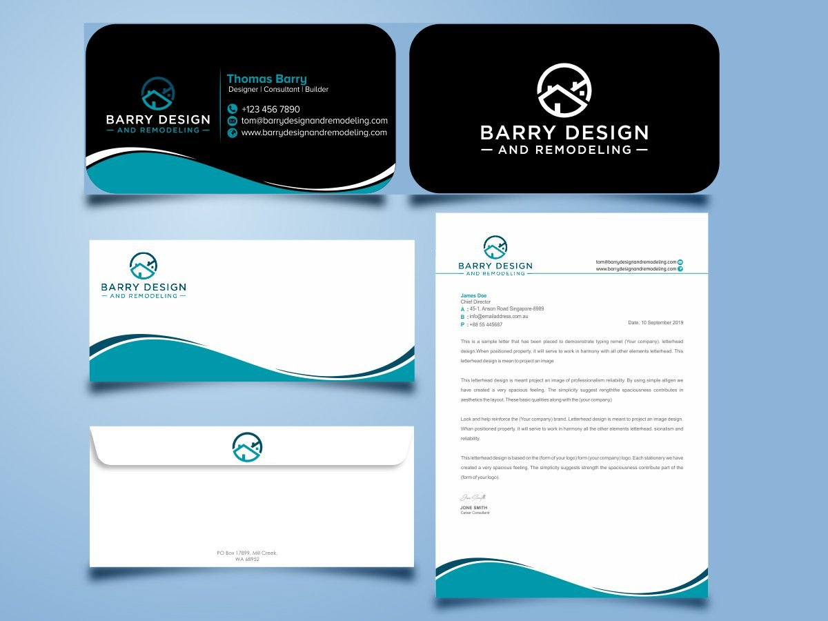 Barry Design and Remodeling logo design by Thuwan Aslam Haris