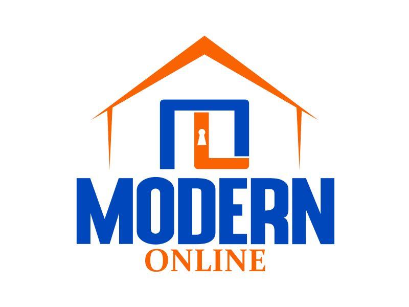 Modern Online logo design by naldart