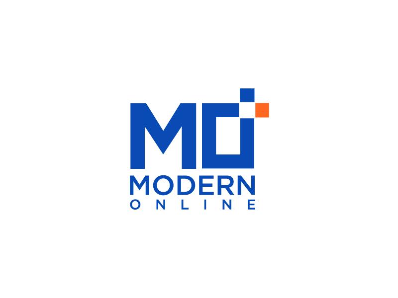 Modern Online logo design by NadeIlakes