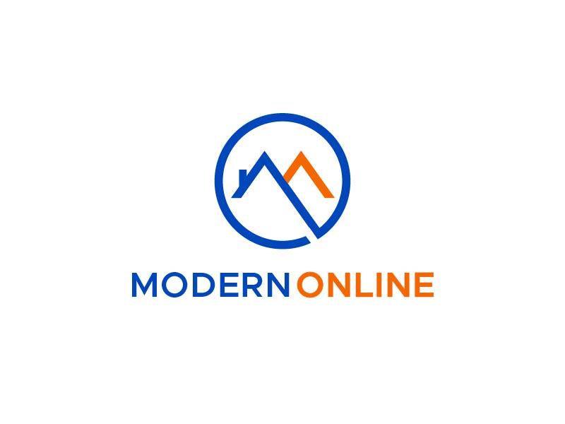 Modern Online logo design by usef44