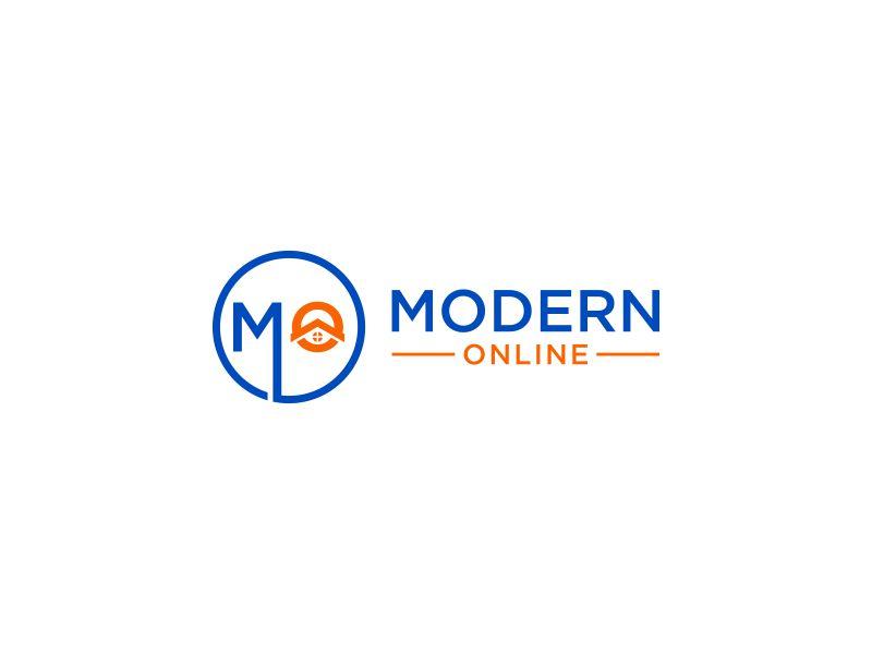 Modern Online logo design by Galfine