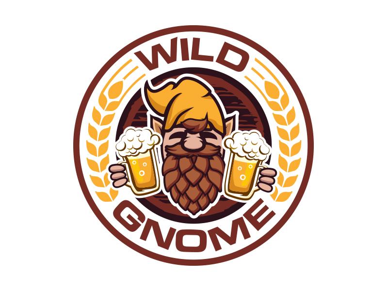 Wild Gnome logo design by MarkindDesign™