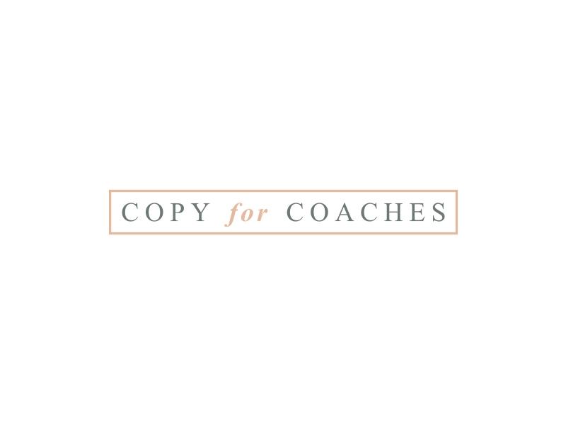 Copy for Coaches logo design by GemahRipah