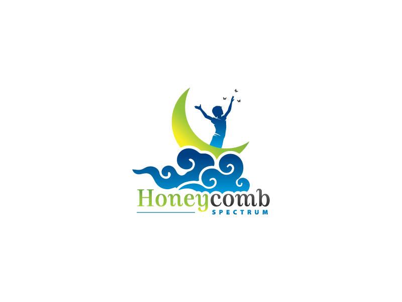 Honeycomb Spectrum logo design by Webphixo