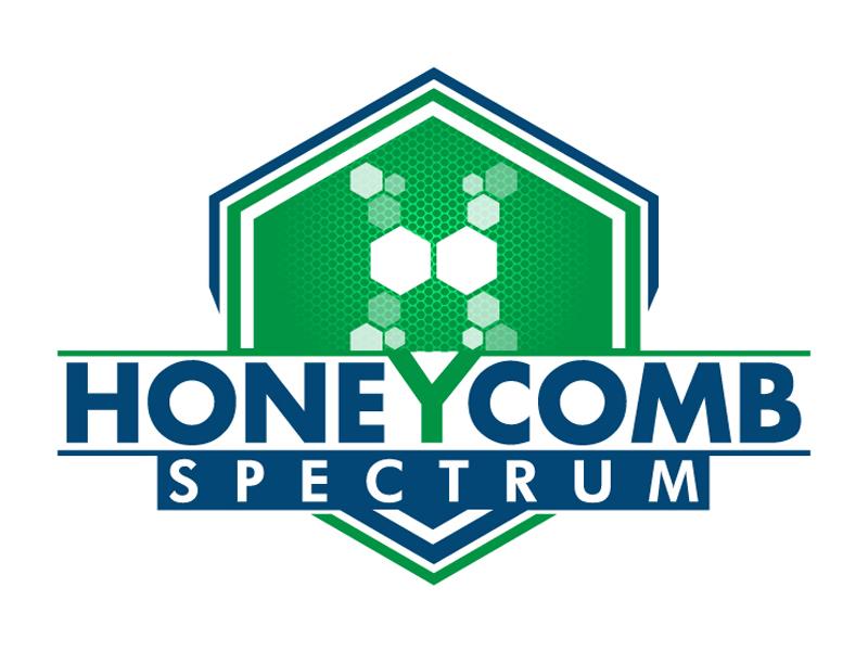 Honeycomb Spectrum logo design by DreamLogoDesign