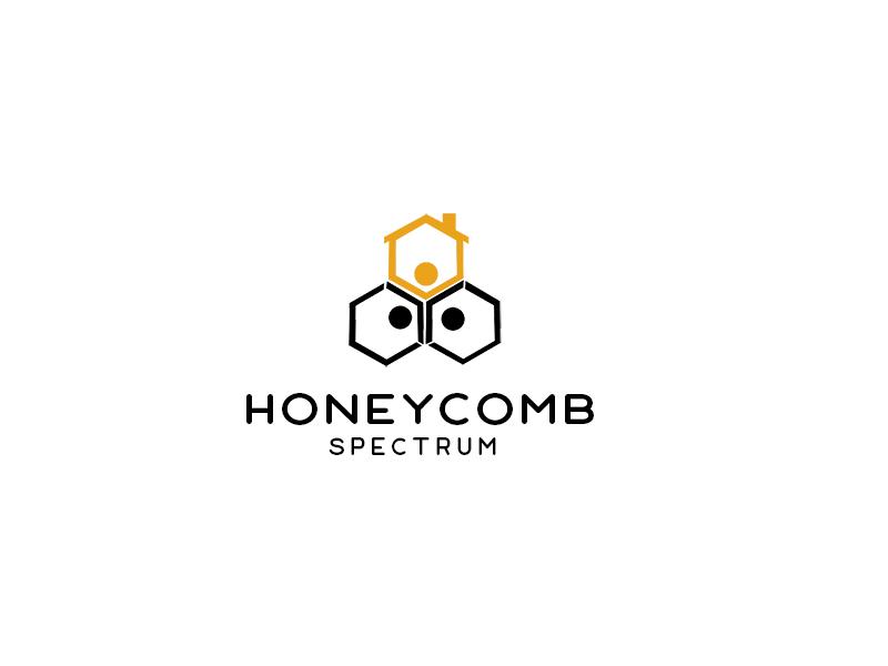 Honeycomb Spectrum logo design by bougalla005