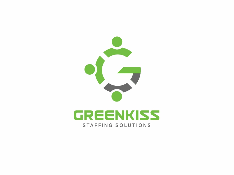 GreenKiss Staffing Solutions logo design by ian69