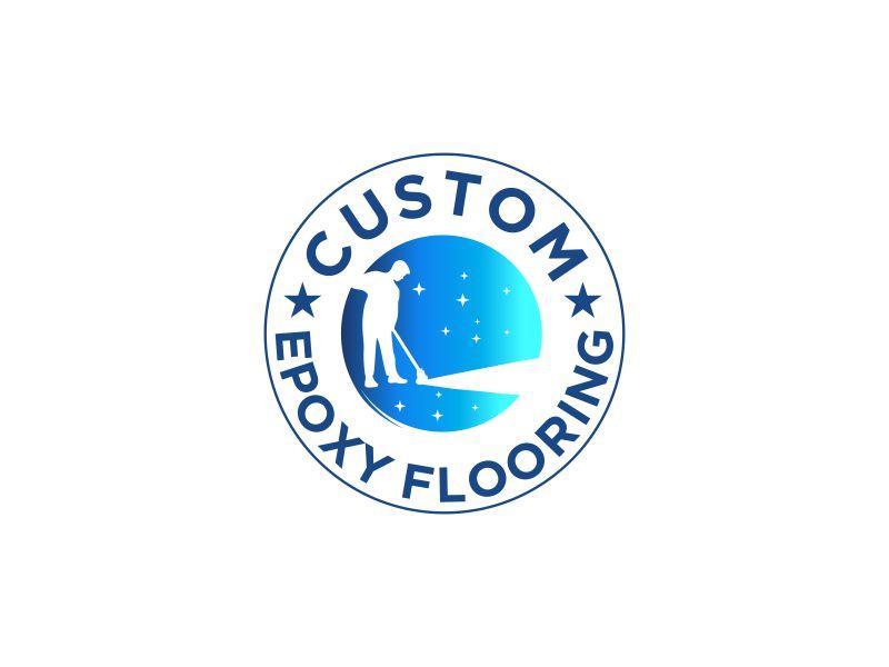 Custom Epoxy Flooring logo design by MUNAROH