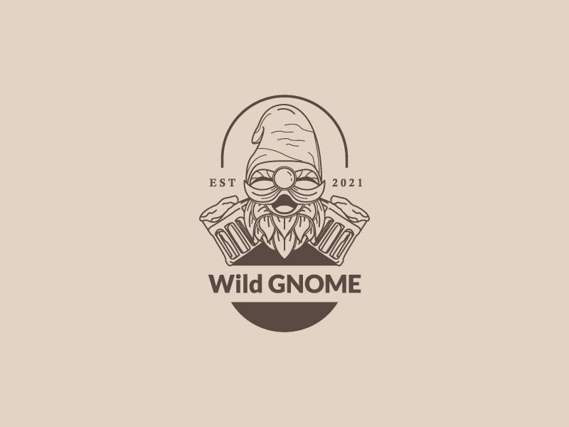 Wild Gnome logo design by andrebbara