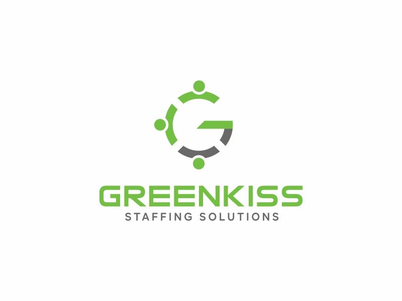 GreenKiss Staffing Solutions Logo Design