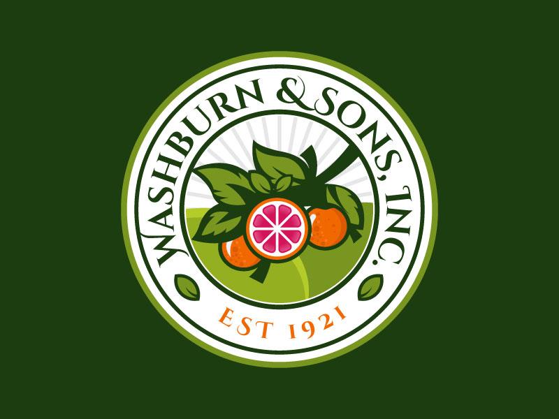 Washburn & Sons, Inc. logo design by mawanmalvin