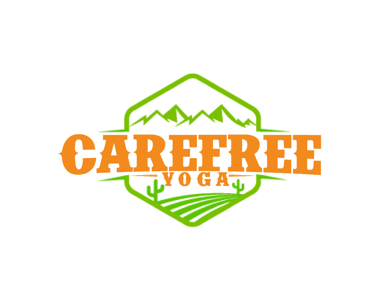 Carefree Yoga logo design by ElonStark