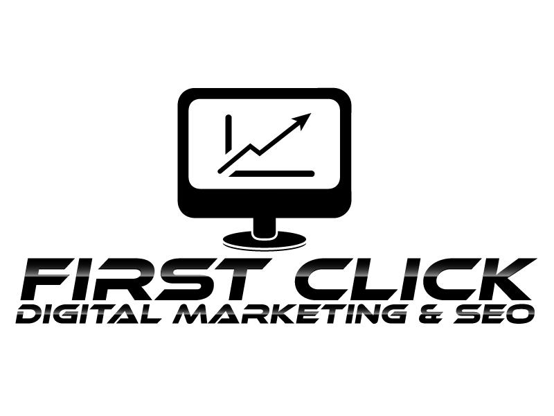 First Click Digital Marketing & SEO logo design by ElonStark