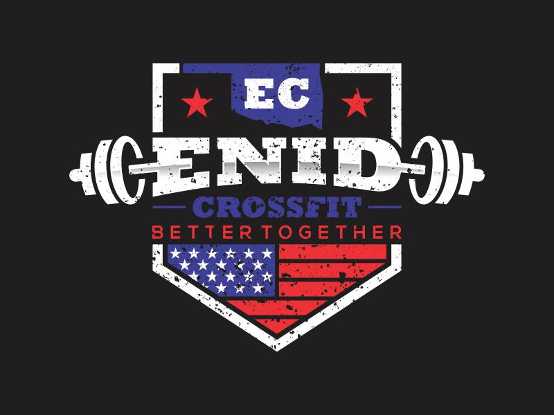 Enid CrossFit logo design by rokenrol