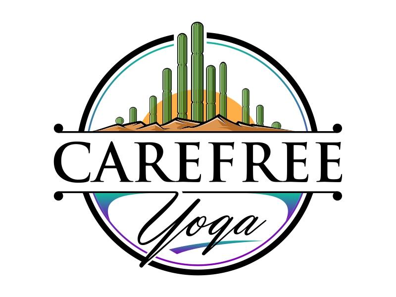 Carefree Yoga logo design by mutafailan