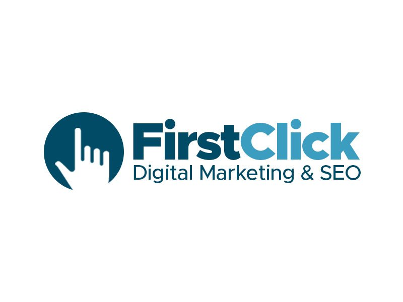 First Click Digital Marketing & SEO logo design by kunejo