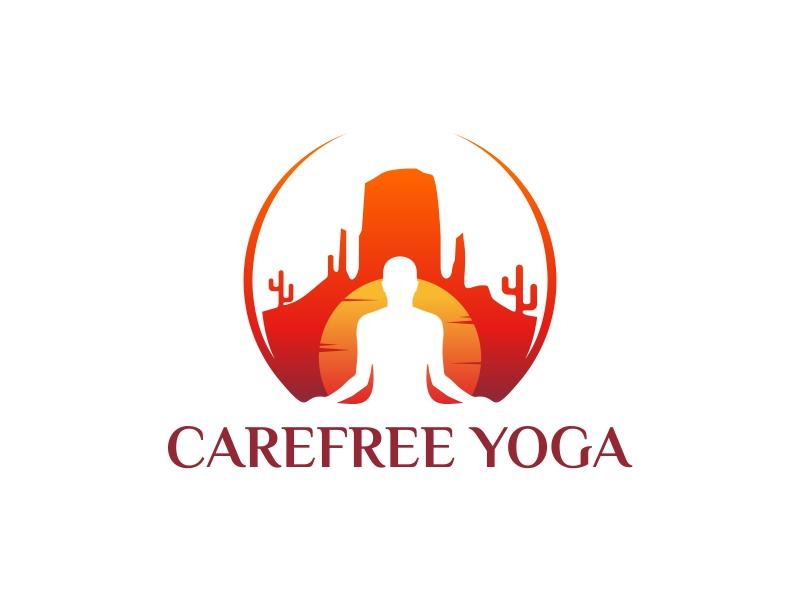 Carefree Yoga logo design by ekitessar