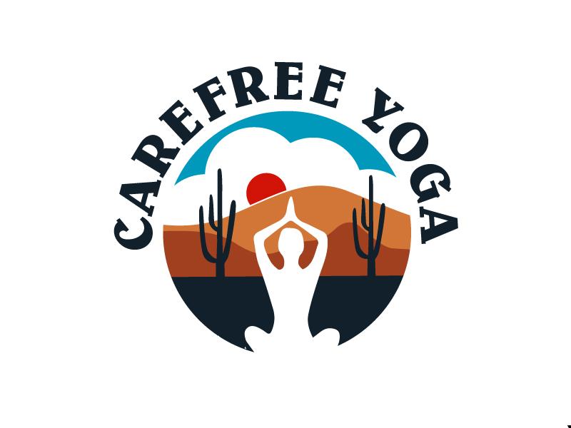 Carefree Yoga logo design by Foxcody