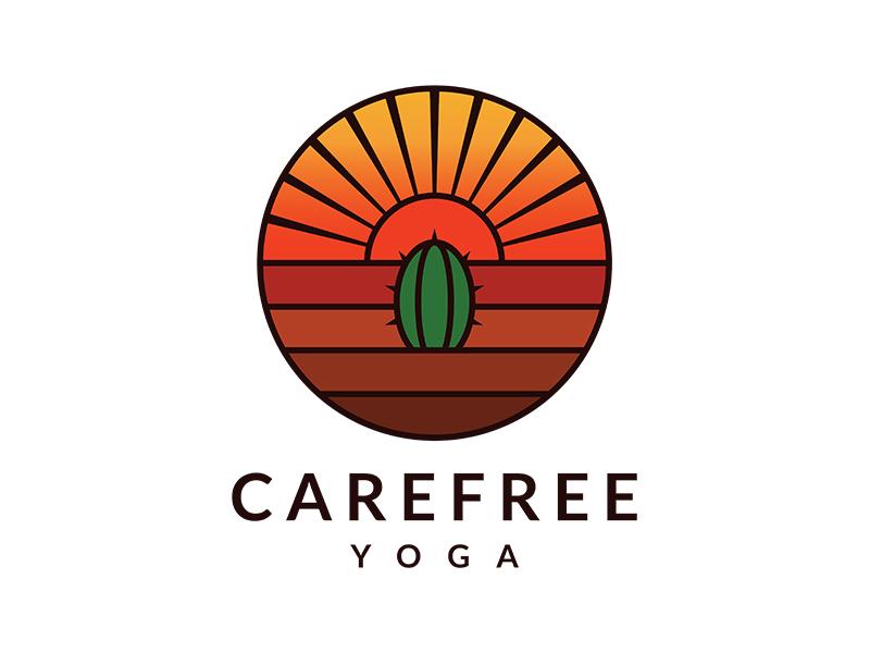 Carefree Yoga logo design by planoLOGO