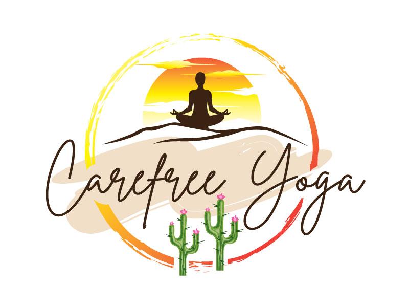 Carefree Yoga logo design by REDCROW