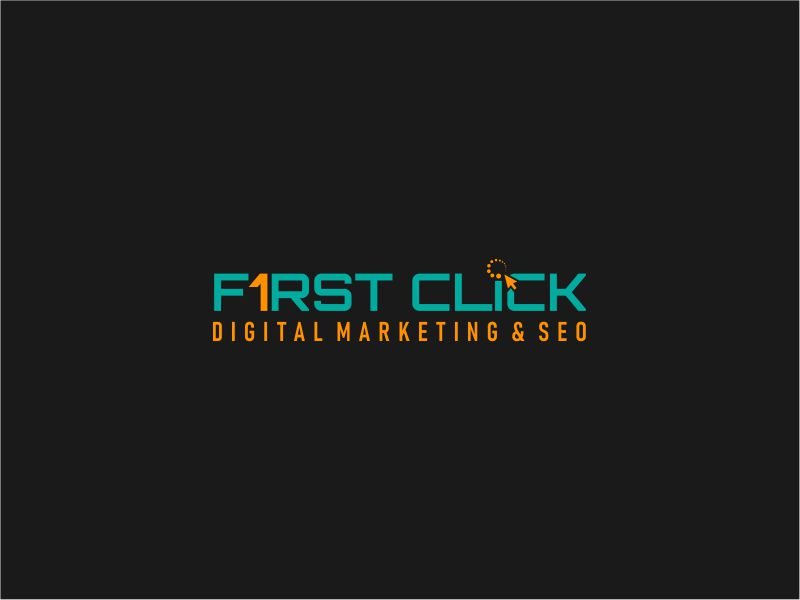 First Click Digital Marketing & SEO logo design by rdbentar
