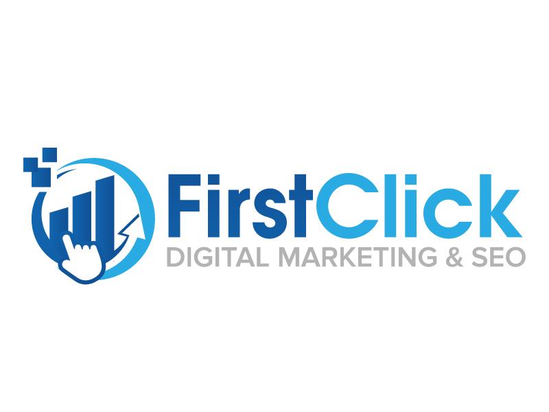 First Click Digital Marketing & SEO logo design by jaize