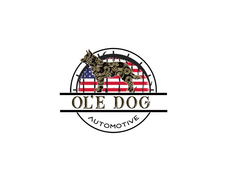 OL'E Dog Automotive logo design by bougalla005