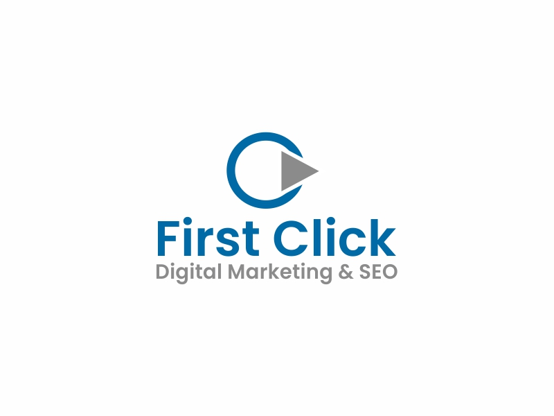 First Click Digital Marketing & SEO logo design by Greenlight