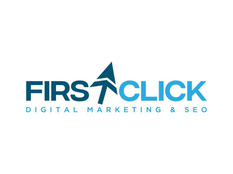 First Click Digital Marketing & SEO logo design by denfransko
