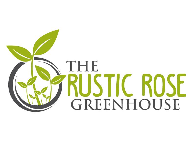 The Rustic Rose Greenhouse logo design by ElonStark