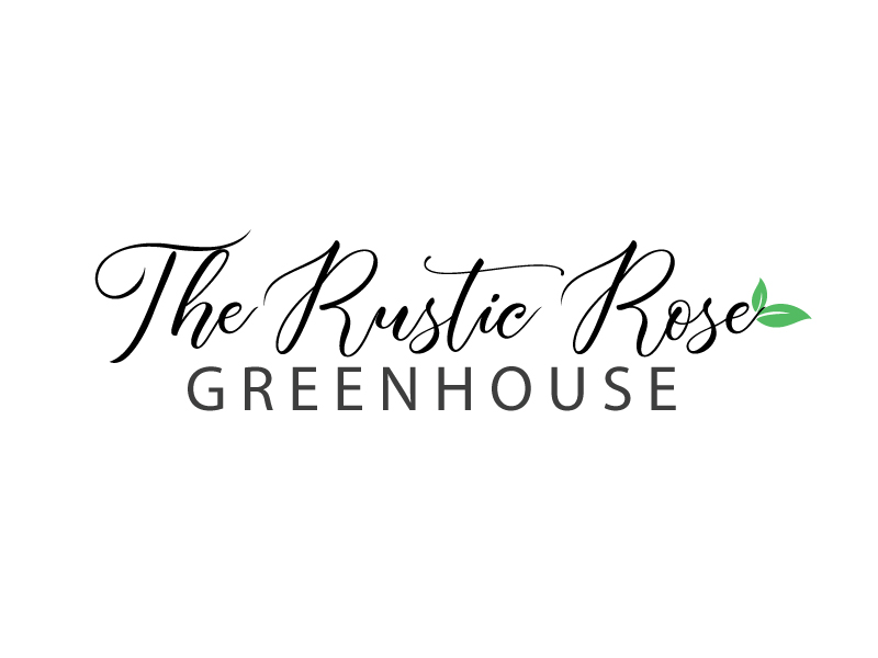 The Rustic Rose Greenhouse logo design by webmall