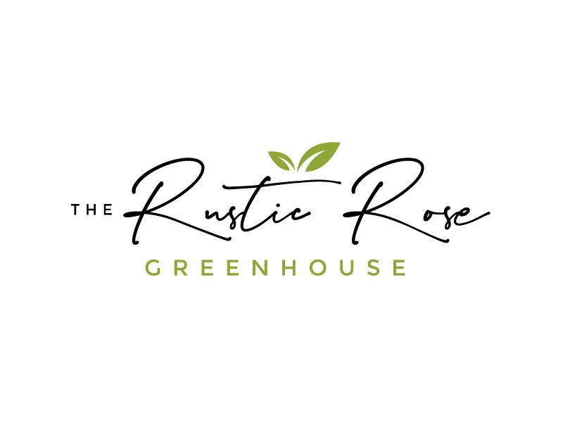 The Rustic Rose Greenhouse logo design by REDCROW