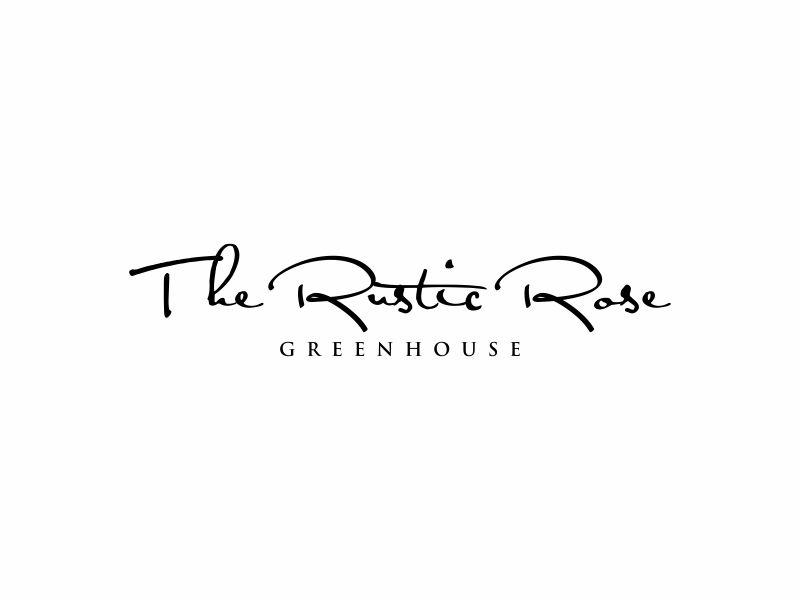 The Rustic Rose Greenhouse logo design by ora_creative